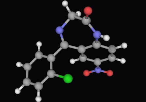 Clonazepam drug molecule