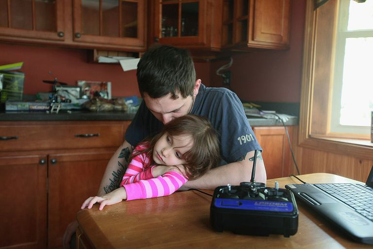 Army veteran Brad Schwarz hangs out with his three-year-old daughter Arabella