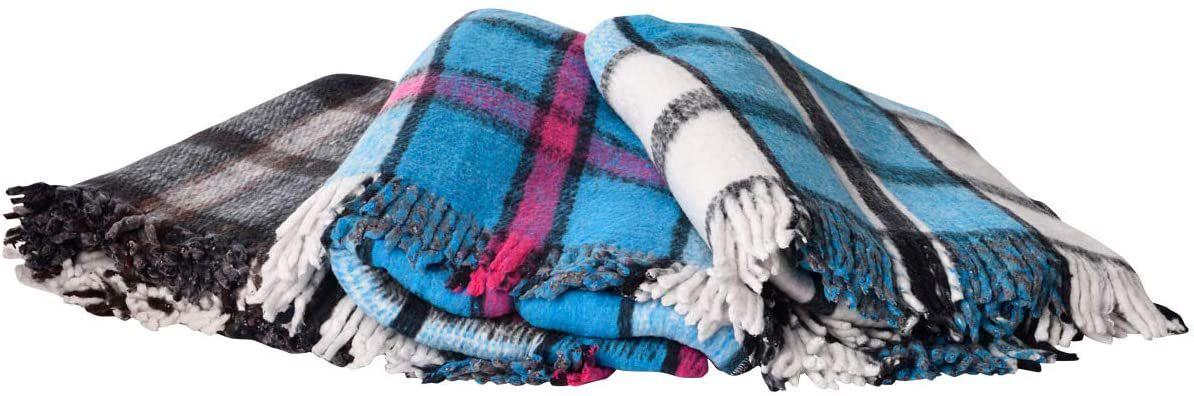 Hugger Mugger Recycled Plaid Yoga Blanket