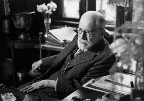 Sigmund Freud in his office