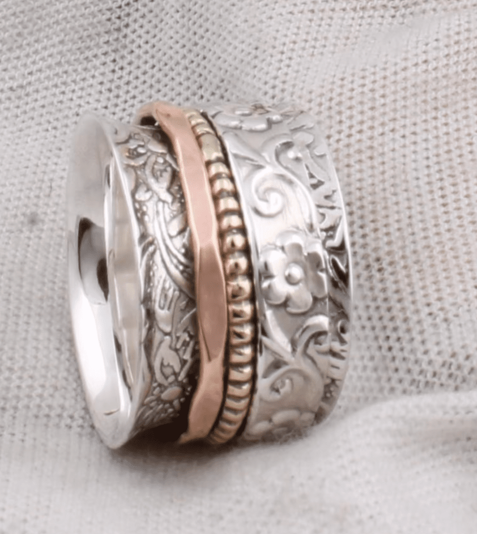 SILVERBOHOJEWELERY Textured Sterling Silver Ring