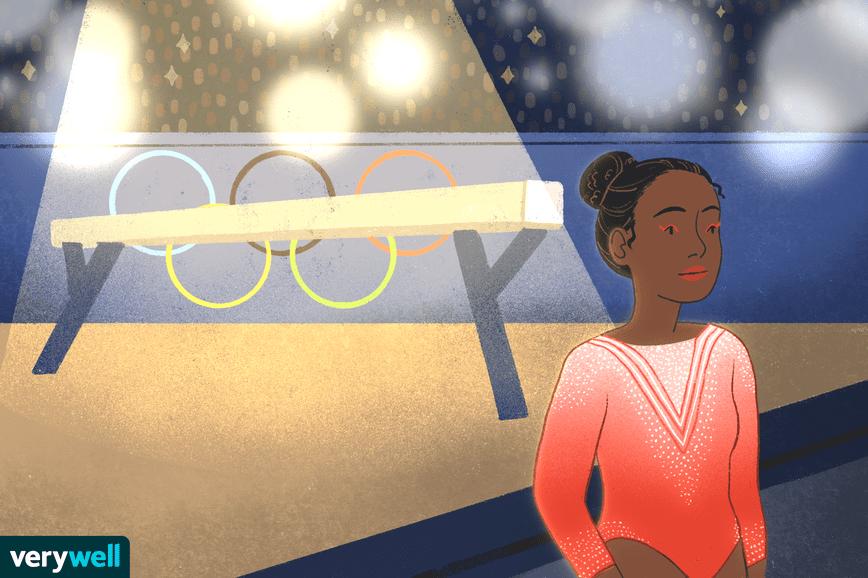 illustration of gymnast walking away