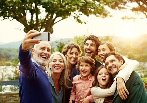 Happy families support each other through stressful times.