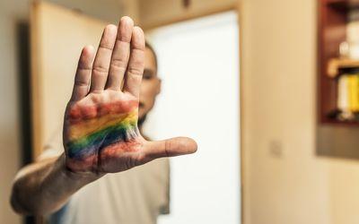 Gay pride hand