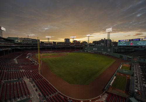 Fenway Park at night