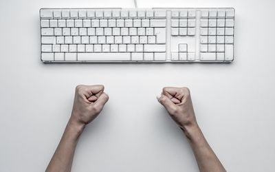 Fists and a keyboard