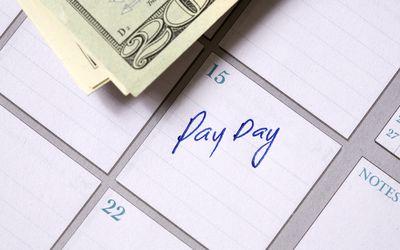 Payday on calendar