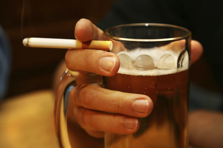 Drinker With Cigarette