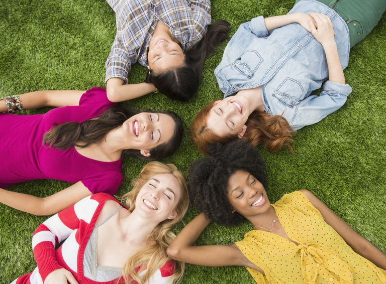 Women Laying in the Grass