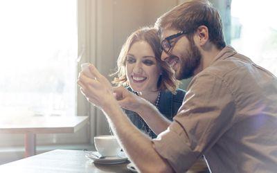 Couple using the Happy Couple app