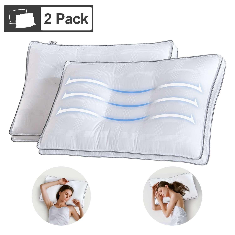 Adjustable Contour Cervical Down Alternative Medium Support Pillow