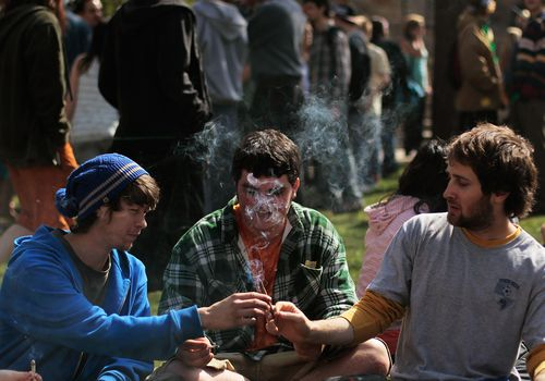 young people smoking marijuana