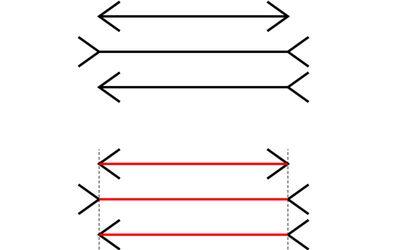 Illustration of the Muller-Lyer Illusion