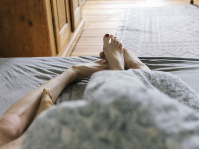 First person perspective of couple in Bed