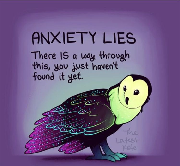 Anxiety lies. There is a way through this, you just haven't found it yet.
