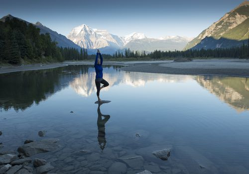 Peaceful yoga in nature