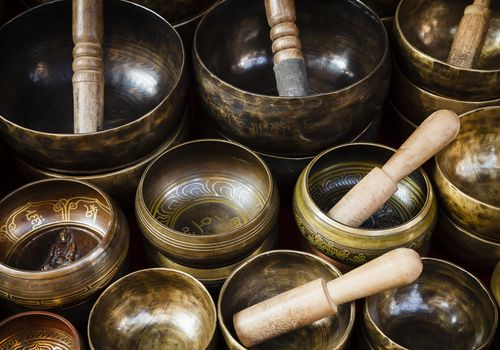 collection of singing bowls