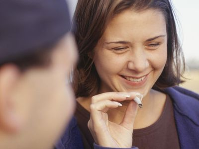 Young people experiencing a marijuana high