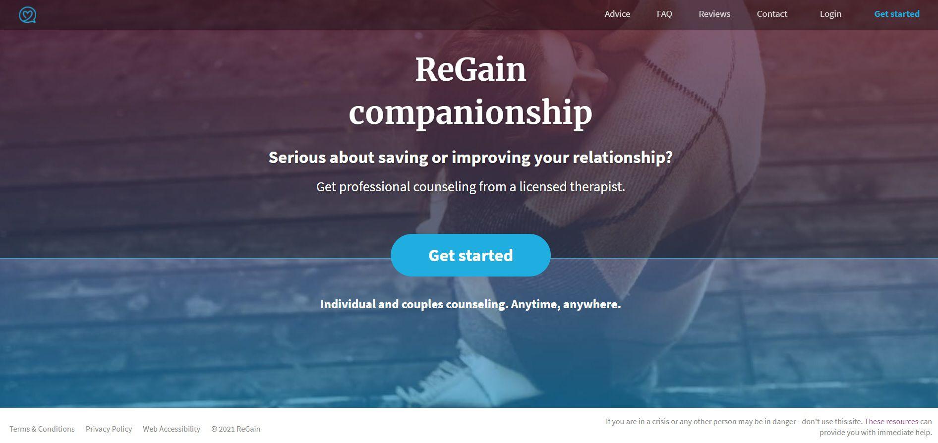 ReGain Homepage