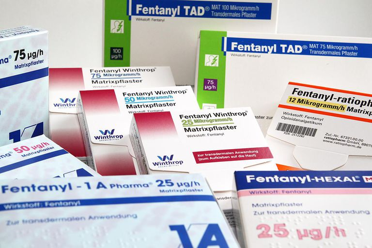 Boxes of fentanyl patches