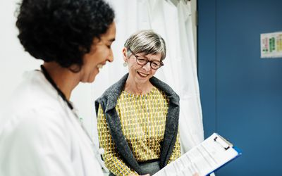 Older woman at doctor