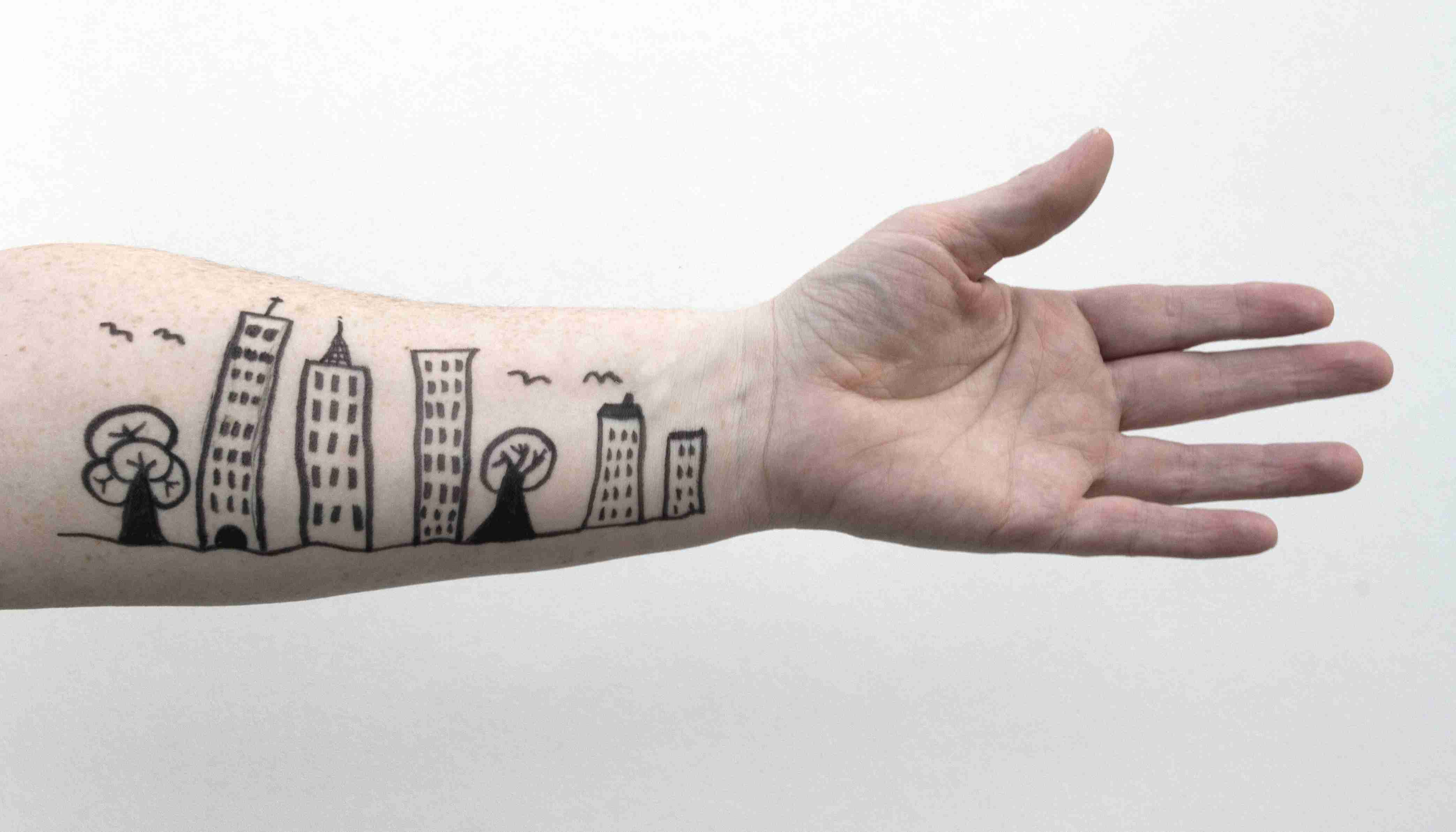 Drawing on an arm