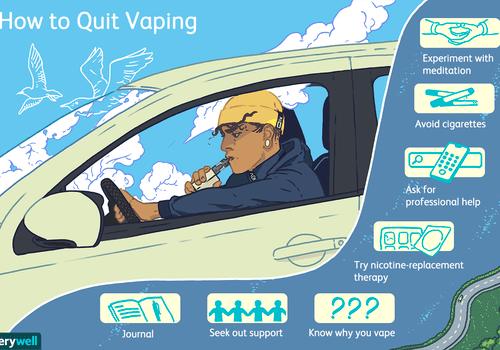 Illustration for tips to quit vaping