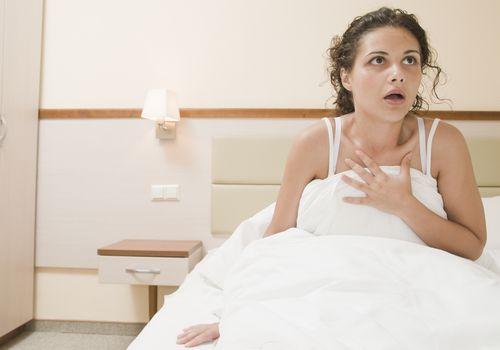 Woman has recurrent nightmare.