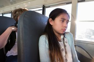 Young girl is sad because others were mean at school