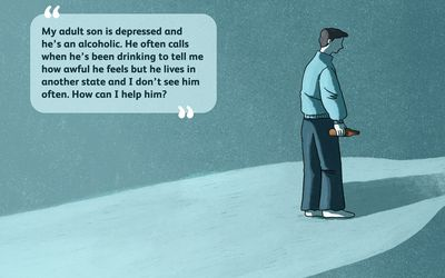 ask a therapist. Depressed son.