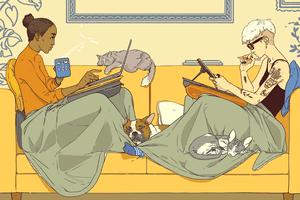 relationships during covid illustration