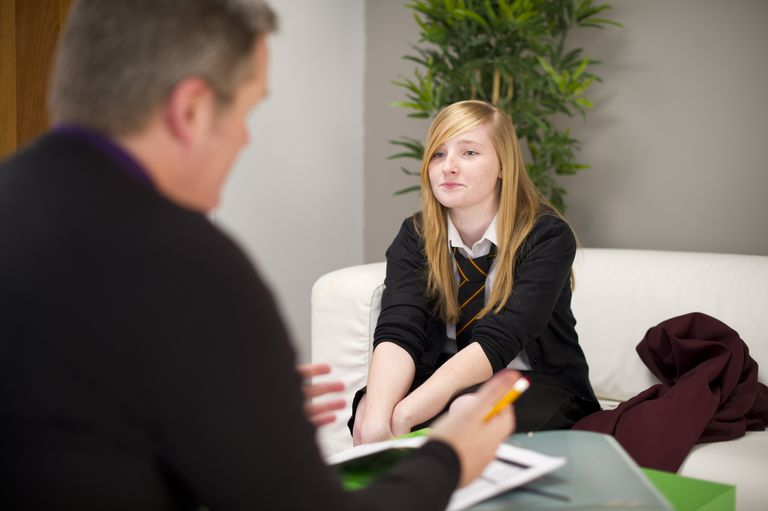 Teen in therapy session