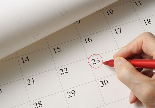 Marking missed period on calendar