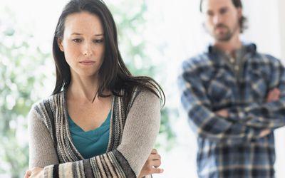 couple upset