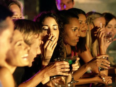 Young People Drinking at a Bar
