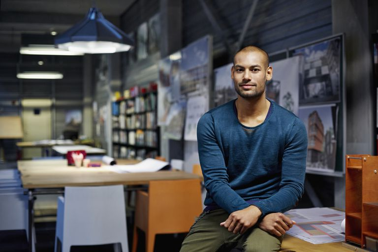 Portrait of architect