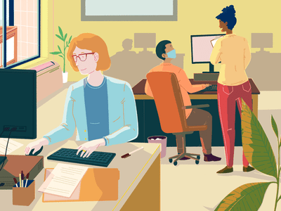 illustration of office workers