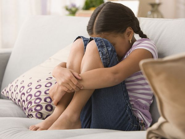 A young girl suffering from depression.