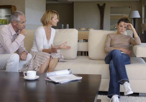 Parents yelling at teenager