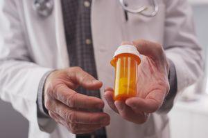 Physician prescribing atypical antipsychotic medication.