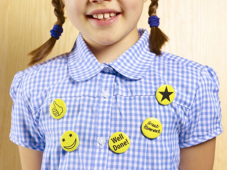 Girl With Reward Stickers