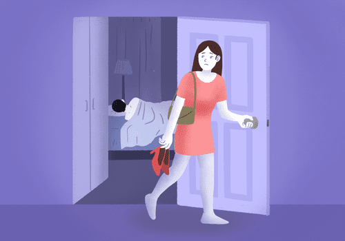 illustratoin of one night stand regret