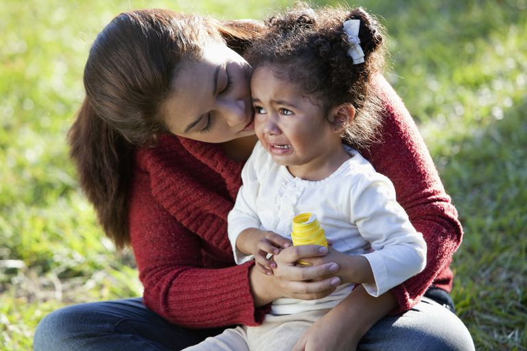 Children with attachment disorders resist comforting.