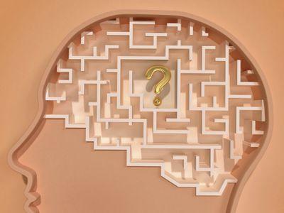 A brain maze representing a heuristic or mental shortcut