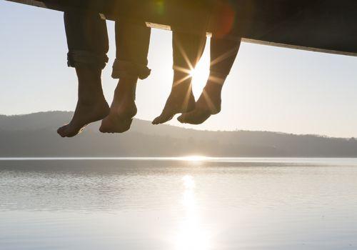 friends dock feet