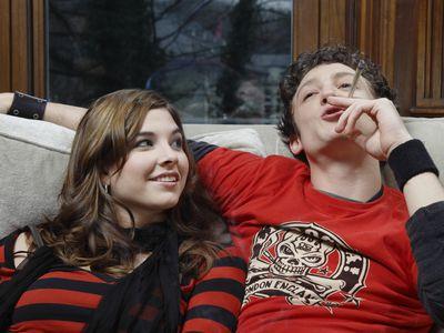 Young man and woman man smoking marijuana
