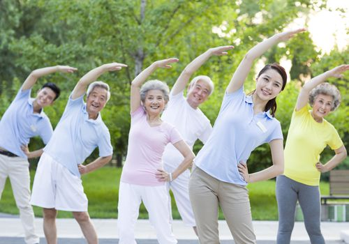 Group of people stretching