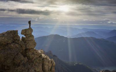 Mountaintop climber