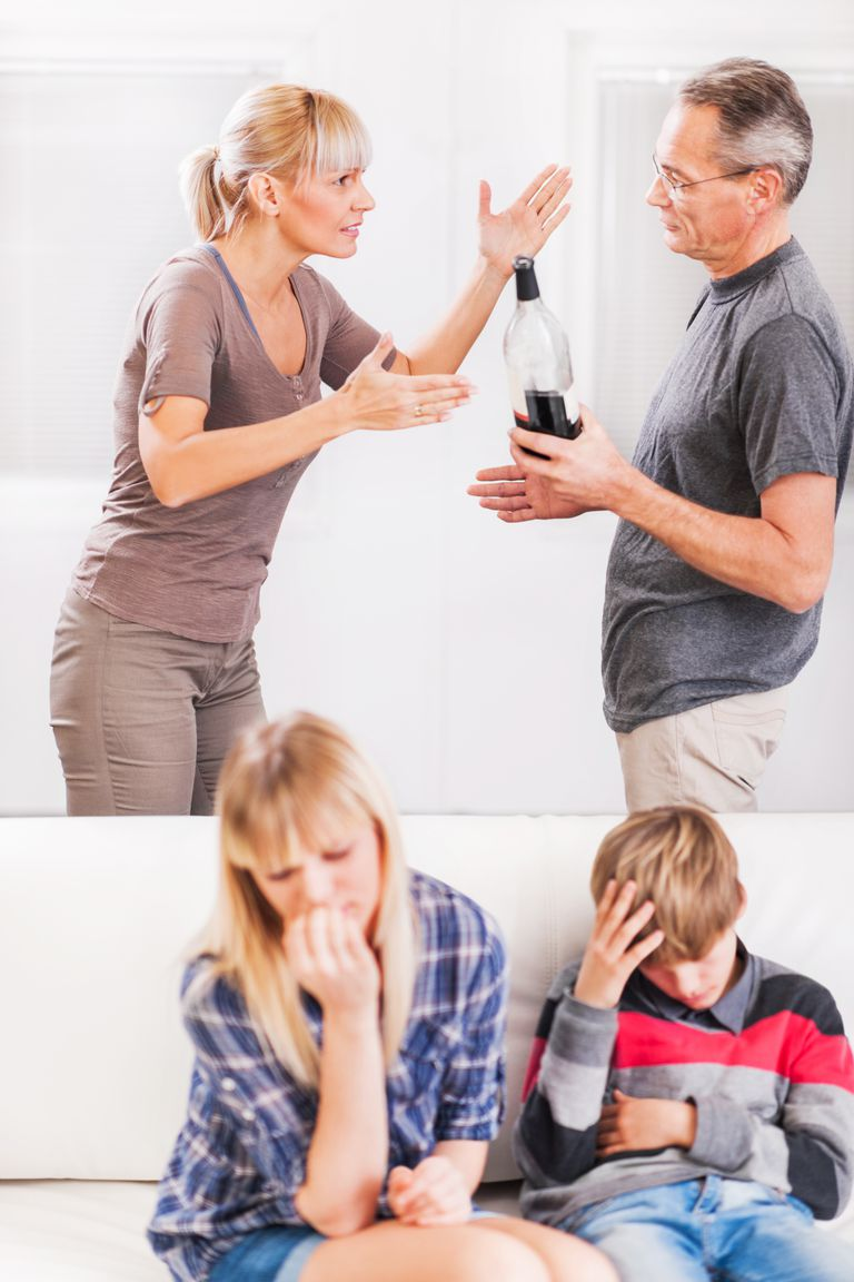 Alcoholism in family.