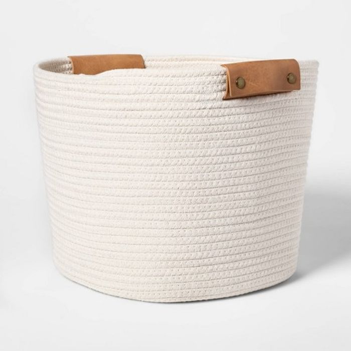 Threshold Decorative Coiled Rope Tapered Basket